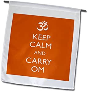 evadane – 趣语 – KEEP CALM and CARRY OM – 旗帜 12 x 18 inch Garden Flag