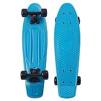 Movendless YD-0001 Quip 滑板22.5 英寸经典塑料巡洋舰滑板,蓝色