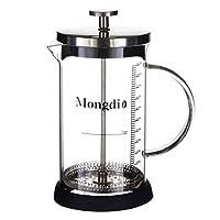 Prointxp 蒙迪系列600mL不锈钢过滤网法式滤压咖啡壶 茶壶 法压壶 节日送礼 家用耐热玻璃冲茶器 带刻度