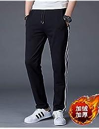 FABEILAI 2018秋季男装新款纯棉直筒宽松加绒加厚卫裤大码运动裤男士休闲裤男长裤子G999