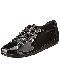 ECCO 爱步 Soft 2.0 柔酷2号 女士真皮系带板鞋