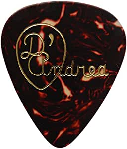 D'Andrea TG351, 0.46TH Celluloid Guitar Picks, 12-Piece, Shell, Thin