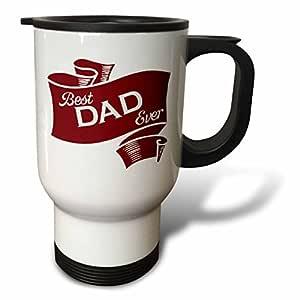 RUSS billington 设计–BEST DAD EVER 栗色丝带–旅行马克杯 白色 14 oz