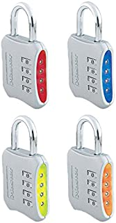 Master Lock Set-Your-Own-Combination 2 英寸挂锁 混色 4 Pack 653D