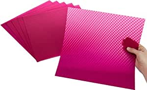 Rowland Technologies 6 Count Polycarbonate Sheet, 12 by 12-Inch, Hot Pink 3D