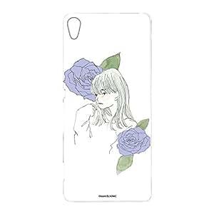 卡丽 壳 透明 硬质 印刷 女孩和玫瑰 智能手机壳 对应全部机型 女の子とバラD 2_ Xperia XA F3116