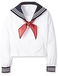 [方形顶部]带围巾 短袖・长袖水手服(学校・制服) TB-844 女款