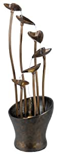 Kenroy Home 50332 Indoor Floor Fountain from the Leaves Collection, Aged Copper Bronze 41 INCH HEIGHT, 11 INCH DIAMETER