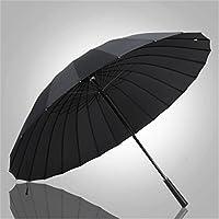 Yandex24骨雨伞长柄伞男士大号直杆伞双人商务超大德国广告伞可定制logo (黑色)