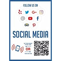 QR 代码和 NFC 芯片 - 社交媒体双面贴纸 Social Media