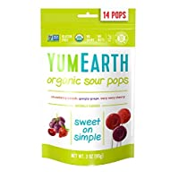 YumEarth Organic Sour Lollipops, 14 Lollipops (Pack of 6)
