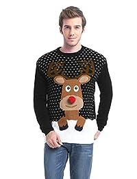 Daisysboutique 男士节日驯鹿雪人圣诞老人雪花毛衣