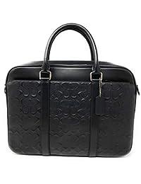 Coach 蔻驰 PERRY 经典十字纹皮革公文包,F72230,黑色