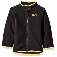 Jack Wolfskin 男童北极狼羊毛中量级拉链抓绒夹克 Size116(5-6) 黑色 1605512-6000116