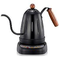 Diguo 帝国 智能烧水壶 电热水壶 电细口壶 咖啡手冲壶 多功能电茶壶 细嘴壶(智能温控 带长久保温功能 可自定义烧水温度) DG-18 (黑色)