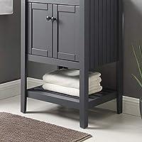 "Modway EEI-3919-GRY Prestige 23"" 浴室梳妆柜,灰色"