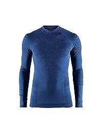 Craft 男士 绿标贴身层 运动内衣 活力系列 适合中高运动强度 温度-5°C到10°C 跑步、滑雪、骑行、多运动 圆领长袖上衣 1905337