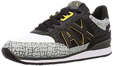 [A|X 阿玛尼 EXTRIES] 运动鞋 (XUX031/XV200) 男士 XUX031/XV200 黑色 EU 9(27.5~28.0 cm)