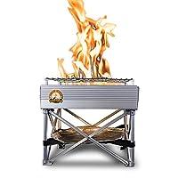 Campfire Defender 保护守护Trailblazer - 便携式木燃烧野营炉/火炉 | 总重 3 磅 | 30.48 厘米 x 30.48 厘米 *生锈设计