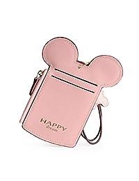 可爱的动物鼠标耳形 ID 盒颈袋袋卡包