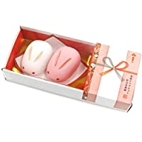 ALTA 日式点心 磁力贴 红白兔小包头/花结