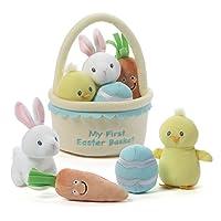 Baby GUND My First 复活节篮玩具套装填充毛绒玩具,5 件