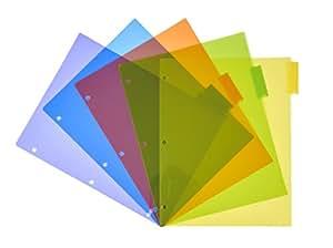 Charles Leonard 5 标签隔板,多色,每包 5 个,24 包 (48500-ST) Index