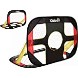 Kidodo 足球后院儿童足球目标可折叠和便携式足球目标球网 户外花园和室内玩具