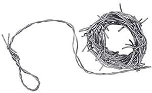 Beistle Barbed Wire Garland, 12-Feet, Silver