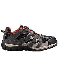 Columbia 儿童越野跑鞋,防水,青少年红芒