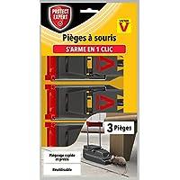 PROTECT EXPERT SOUTRAP3 鼠标夹,3 个塑料敲击,快速、精确、易于使用