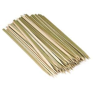 BambooMN 品牌 - 优质平式竹制烧烤叉 - 不同尺寸 - 提供 100/300/1,000 件 10-Inch 6955114923476a