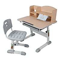 生活诚品 儿童书桌 学习桌 儿童书桌椅套装学生书桌椅套装AU900套装【亚马逊自营,供应商配送】
