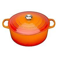 Le Creuset 鑄鐵圓形 casserole?–?volcanic