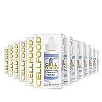 Cellfood 液體濃縮物,1盎司(30ml)/瓶(12瓶)- 含有海藻來源的礦物質,酶,氨基酸,電解質,優越的吸收-無谷蛋白,無轉基因