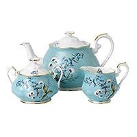 Royal Albert皇家阿尔伯特100 Years 1950茶壶&糖精壶&奶油罐三件套 多彩颜色