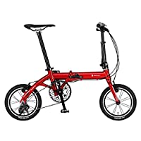 RENAULT(雷诺) ULTRA LIGHT7 TRY 143 红色 14英寸 超轻铝框 7.3千克 超小巧 折叠自行车 外装3档变速 61210-02