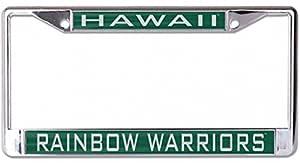 WinCraft 夏威夷彩虹战士车牌架,镀铬金属带丙烯酸
