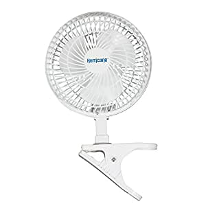 Hurricane Clip Fan - 6 Inch | Classic Series | Powerful Clamp Fan for Sturdy and Quiet Operation, 2 Speed Settings, Adjustable Tilt - ETL Listed, White