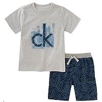 Calvin Klein 婴儿男孩 T 恤短裤 2 件装