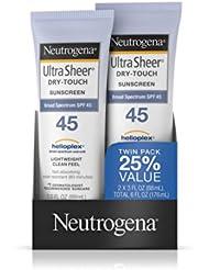 中国亚马逊:Neutrogena露得清 SPF45 超薄轻透防晒乳 88ml * 2支77.74元(直邮低至87元)