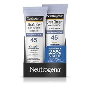 Neutrogena露得清 清透防晒乳 SPF 45 3盎司 (2只装)