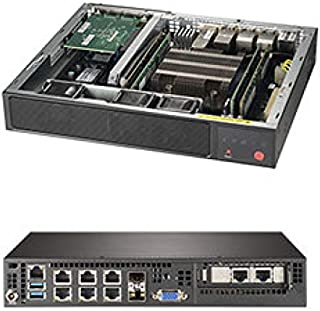 Supermicro SuperServer E300-9D-8CN8TP Mini PC 服务器 - Xeon D-2146NT - 序列 ATA/600 控制器 - ASPEED AST2500 显卡 - 10 千兆以太网 - 1 个 SFF 槽,120 瓦