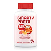 SmartyPants 兒童每日復合維生素軟糖:有益于機體的維生素C,D3和鋅,無麩質,Omega 3 魚油(DHA / EPA),抵御危害,維生素B6,甲基B12,120粒(30天)