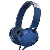 Sony 索尼 MDR-XB550AP 重低音立体声 有线头戴式耳机 线控通话 蓝色