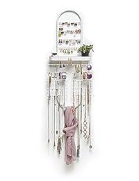Umbra Valerina 化妆品组织,钢,白色,普通,