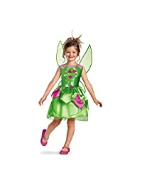 Disguise Disney Fairies Tinker Bell Classic Girls Costume, 3T-4T