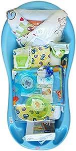 Cosing C-0400-05 新生儿入门套装/套装适用于婴儿的原装配置 – 13件浴缸,蓝色