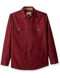 Wrangler Authentics 男式长袖帆布衬衫
