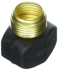 Nelson 50430 黄铜和尼龙公头软管维修 黑色 50430